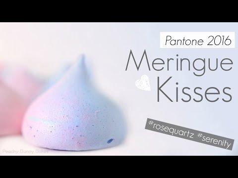 Meringue Kisses in Pantone 2016 Colours - Serenity & Rose Quartz