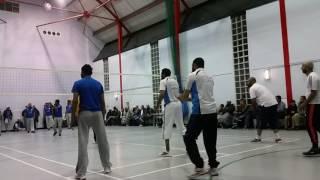 Gujarati volleyball Blackburn  tournament kk vs Blackburn finel  2016 part 1