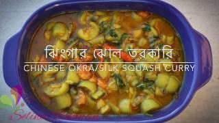 ঝিংগার ঝোল তরকারি ॥ Chinese Okra ॥ Silk Squash Curry || R# 86