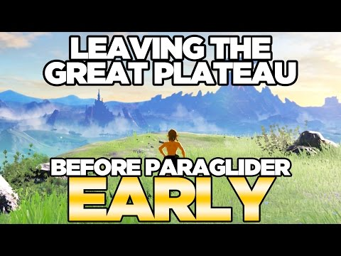 Leaving the Great Plateau Early NO PARAGLIDER in Breath of the Wild Austin John Plays