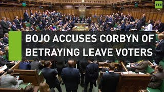 """BoJo accuses Corbyn of """"betraying"""" Leave voters"""