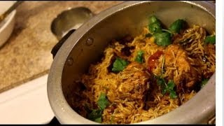 Chicken Biryani - How to make Chicken Biryani in pressure cooker--Video Recipe