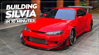 Building a Nissan Silvia S15 in 10 Minutes!
