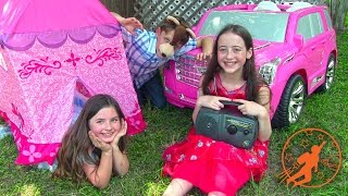 Little Princesses 9 - The Camping Trip Lessons, The Princess Tent and The Ride On Pink Princess Car
