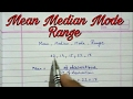 Download Mean Median Mode And Range Ll Statistics Ll Central Tendency Easy Way Class 9 Cbse mp3