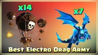 7 Electric Dragon+ 14 Balloons= Th12 Best Electro Drag Raids | TH12 War Strategy #40 | COC 2018 |