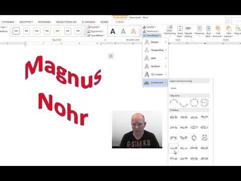 Word 2013 Wordart