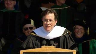 Stephen Colbert gives a funny farewell to Wake Forest University class of 2015