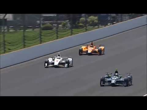 IndyCar 500 Fernando Alonso Double Overtakes