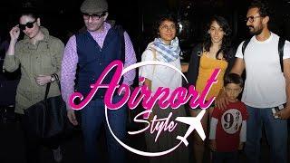 Kareena Kapoor Khan, Saif Ali Khan, Aamir Khan and many more B'Town celebs slay the Airport Fashion.