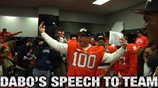 Clemson Football: Dabo Swinney Rousing Locker Room Speech