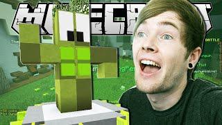 Minecraft   THE CACTUS ALIEN!!   Build Battle Minigame
