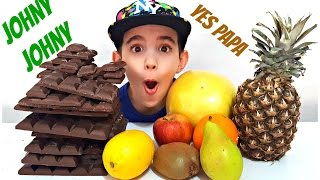 JOHNY JOHNY Yes Papa - Simple Songs For Children, Toddlers, Babies - Learn Fruits Nursery Rhymes