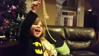 Eating Noodles:Messy Child|missing mouth