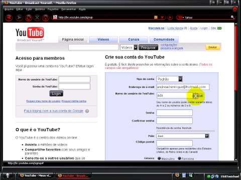 criando conta no youtube michael.vai.la