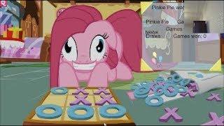 Пинки Пай VS Мисс Пони в игре  крестики нолики