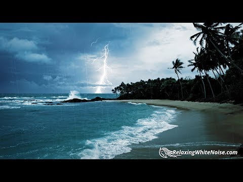 Xxx Mp4 Rain Thunder Ocean Sounds White Noise For Sleep Or Studying 10 Hours 3gp Sex