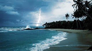 Rain, Thunder & Ocean Sounds | White Noise for Sleep or Studying | 10 Hours