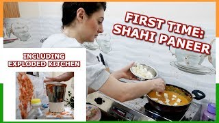 FIRST INDIAN FOOD EP. 2: COOKING SHAHI PANEER CURRY RECIPE | TRAVEL VLOG IV