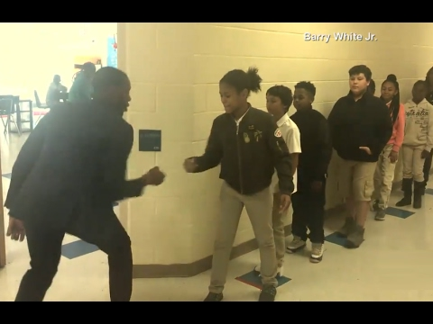 Xxx Mp4 Teacher Has Incredible Handshakes With Each Student ABC News 3gp Sex