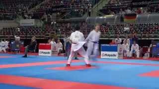 SPAIN vs IRAN Female Team Kumite Competition - 2014 World Karate Championships