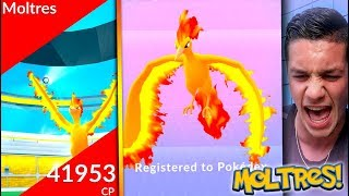 FIRST *LEGENDARY MOLTRES* RAID IN POKÉMON GO! WE CAUGHT OUR MOLTRES OMG IT