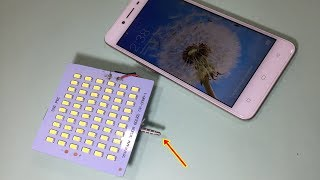 How to make a Selfie Flash Light For Smartphone | DIY Power External LED Flash Light