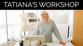 How to organize your sewing workshop? My sewing room. Tatiana Kozorovitsky studio