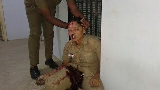 Lady Police  inside the Police Station near Madurai - RedPix 24x7