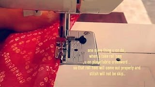 How to do picco or roll hem on saree & duptta perfectly,step by step