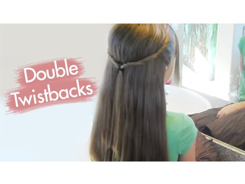 Double Twistbacks | Cute Girls Hairstyles