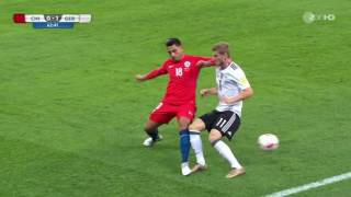 FOUL TIMO WERNER committed by Gonzalo Jara | GERMANY vs CHILE | CONFED CUP 2017