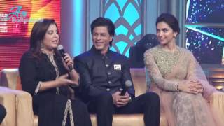 Deepika Padukone, Shahrukh Khan at Music Launch Happy New Year