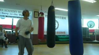 Wonjin (Operation Scorpio 1992)Sandbag Kicks 2.MOV