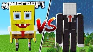 SLENDERMAN HOUSE vs SPONGEBOB HOUSE in Minecraft!