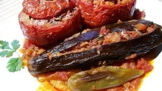 How To Make Stuffed Eggplant -  آموزش درست کردن بادمجان شکم پر گیاهی