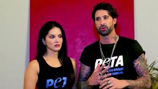 Sunny Leone And Daniel Weber Promote Animal-Free Fashion