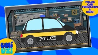 Umi Uzi | Police Car | Vehicle Assemble | video for toddlers | Educational Videos