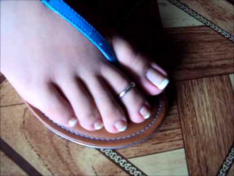 Thong Sandals french pedicure toering piecitos anklets por CamilaMercedes