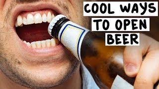 7 Cool Ways to Open Beer - Tipsy Bartender