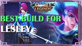 Mobile Legends Best Build In Any Situation For Lesley | Mythical Academy # 7