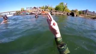 Found 3 GoPros, iPhone, Gun and Knives Underwater in River! – Best River Treasure Find of 2016