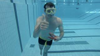 how to do a 50 meter underwater swim olympic pool dynamic apnea