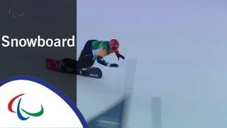 Mike SCHULTZ VS. Chris VOS  Snowboard cross   Big Final   PyeongChang2018 Paralympic Winter Games
