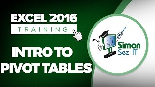 Introduction to Pivot Tables in Microsoft Excel 2016