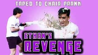 TAPED TO A CHAIR PRANK!! Ethan