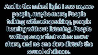 "Disturbed - ""The Sound Of Silence"" lyrics"