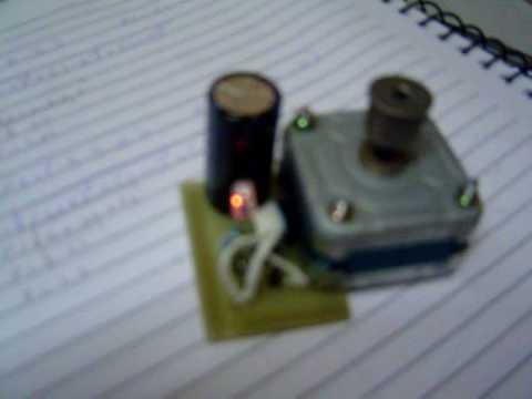 gerando energia com motor de passo generating electricity with stepper motor