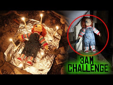 (GONE WRONG) ONE MAN HIDE AND SEEK WITH CHUCKY DOLL // 3 AM OVERNIGHT CHALLENGE GONE WRONG!