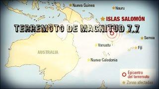 Alerta de tsunami tras un terremoto de magnitud 8,0 cerca de las Islas Salomón.